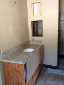 Granite in the master bath