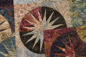 Close-up of Valerie's Desert Sky - I hope you can see the quilting.