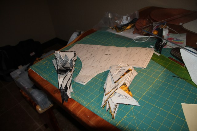 Getting ready to sew the next section of border