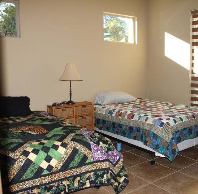 The 2nd guest bedroom - still need some bed skirts, but they can be slept in!