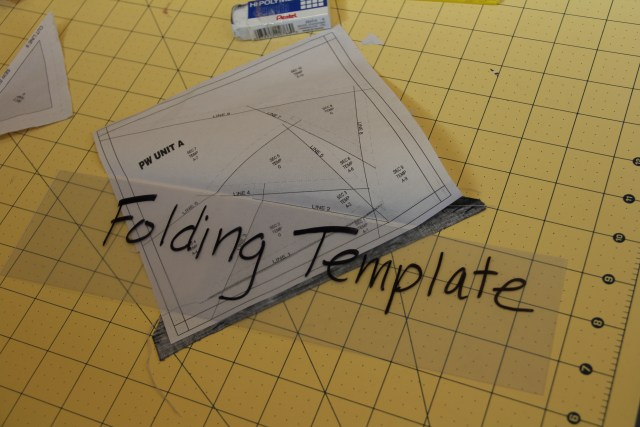 Take your folding template and fold on SOLID line 2