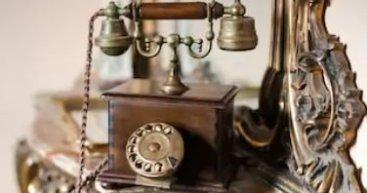 Vintage Phone and Mirror