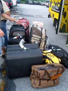 The fun of a destination wedding, all the siblings got to fill their luggage with wedding stuff!