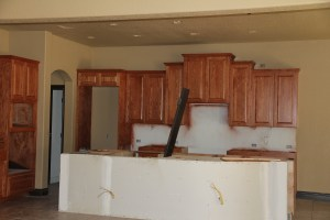 The kitchen island - before masonry