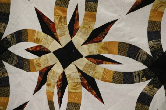 A close-up of the star.  I have seen her design for the quilting - it will be a SHOW STOPPER!