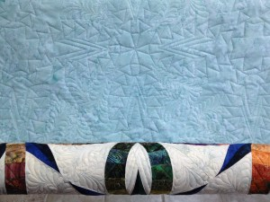 I love when the back of the quilt comes to life - do you?