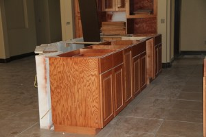 Another view of the kitchen island - it is 6' x 11'