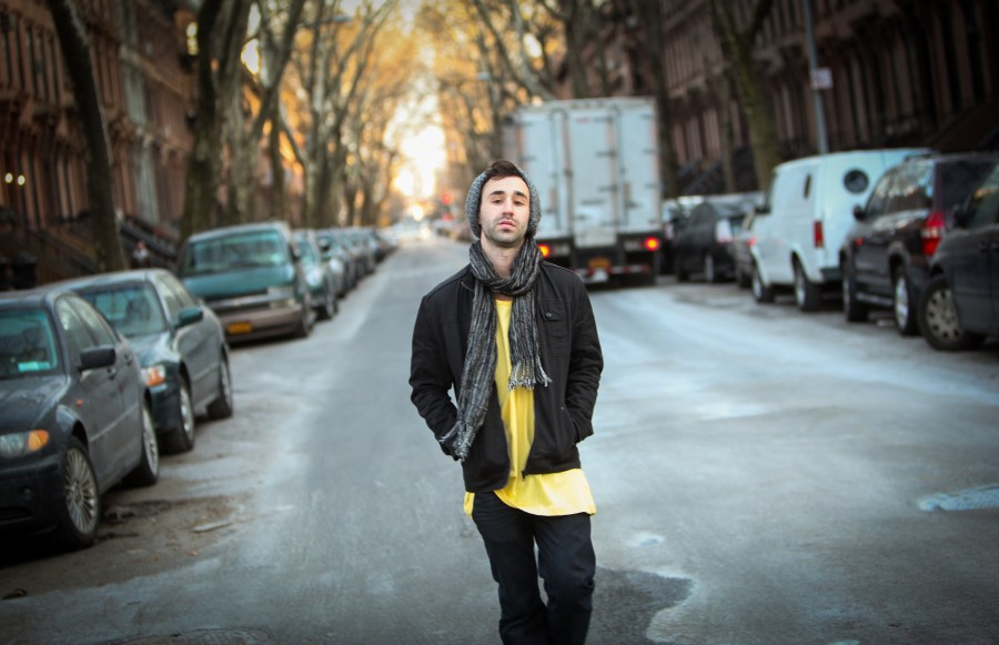 Musician Jeremy Gold in Fort Greene, Brooklyn, March 9.
