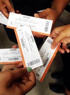 Haemoo tickets!
