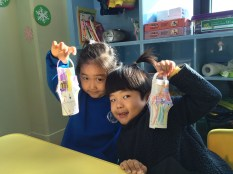 Julie, Jung Hyun and their beautiful Christmas lanterns.