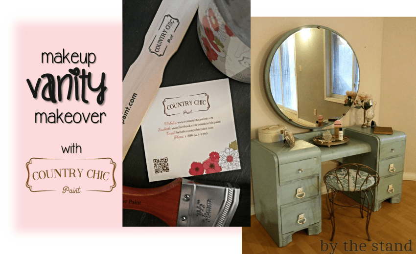 Makeup Vanity Makeover with Country Chic Paint