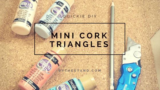 Mini Cork Triangles