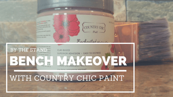 Bench Makeover With County Chic Paint