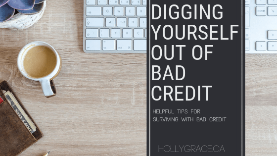Digging yourself out of bad credit