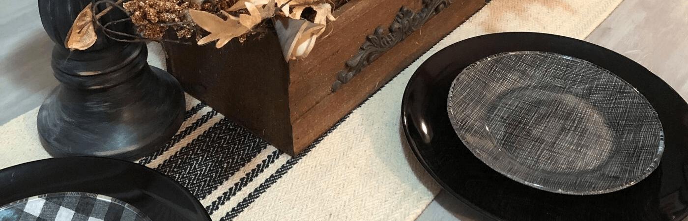 DIY Clear Fabric Plates