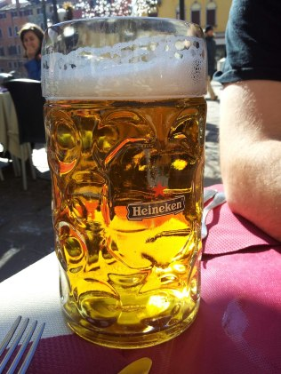 A large beer - aka one litre