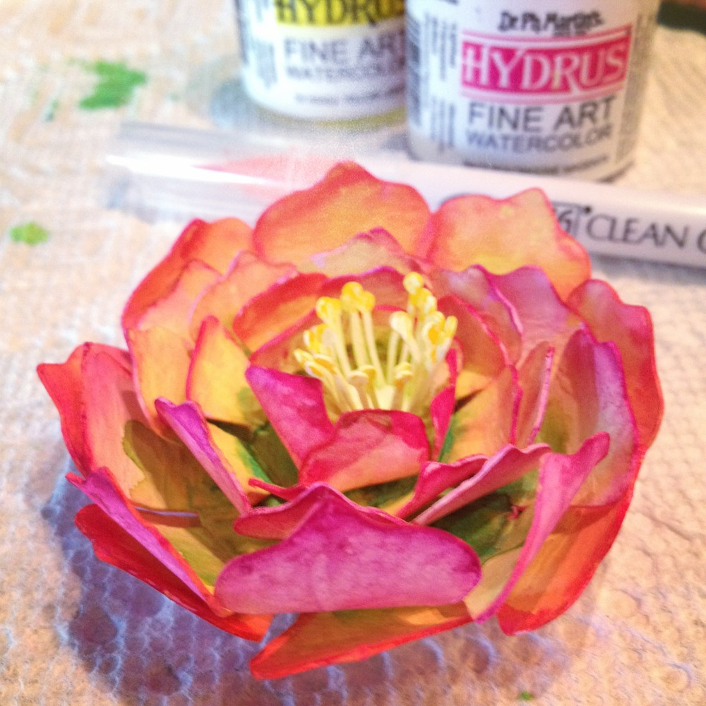 Vintage fine art watercolor paper hand-crafted forever flowers (3/6)