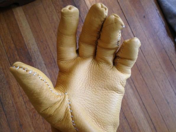 Glove on