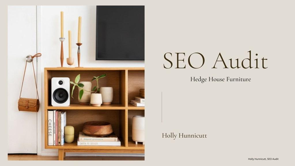 SEO Audit by Holly Hunnicutt