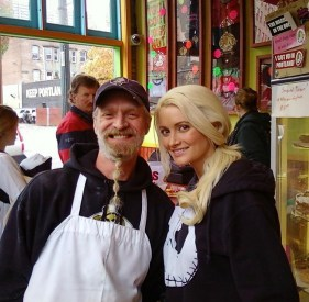 Holly Madison Voodoo Donuts