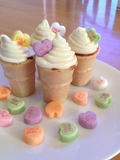 Valentines Day Mini Ice-Cream Cupcakes