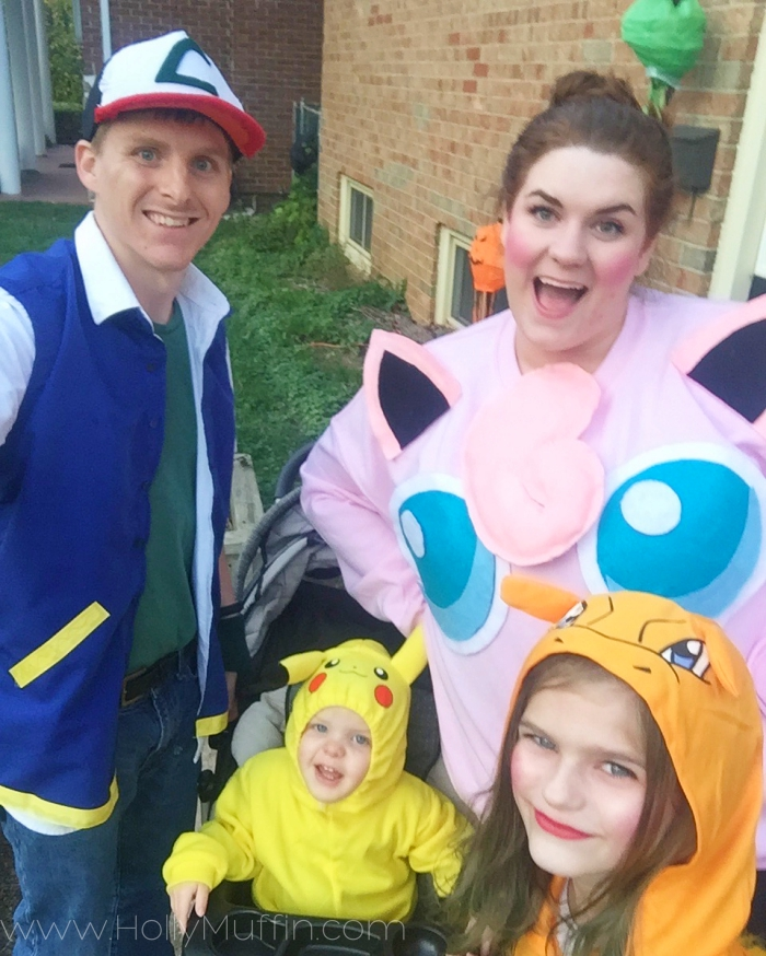 Family pokemon costumes, including my DIY Jigglypuff costume!