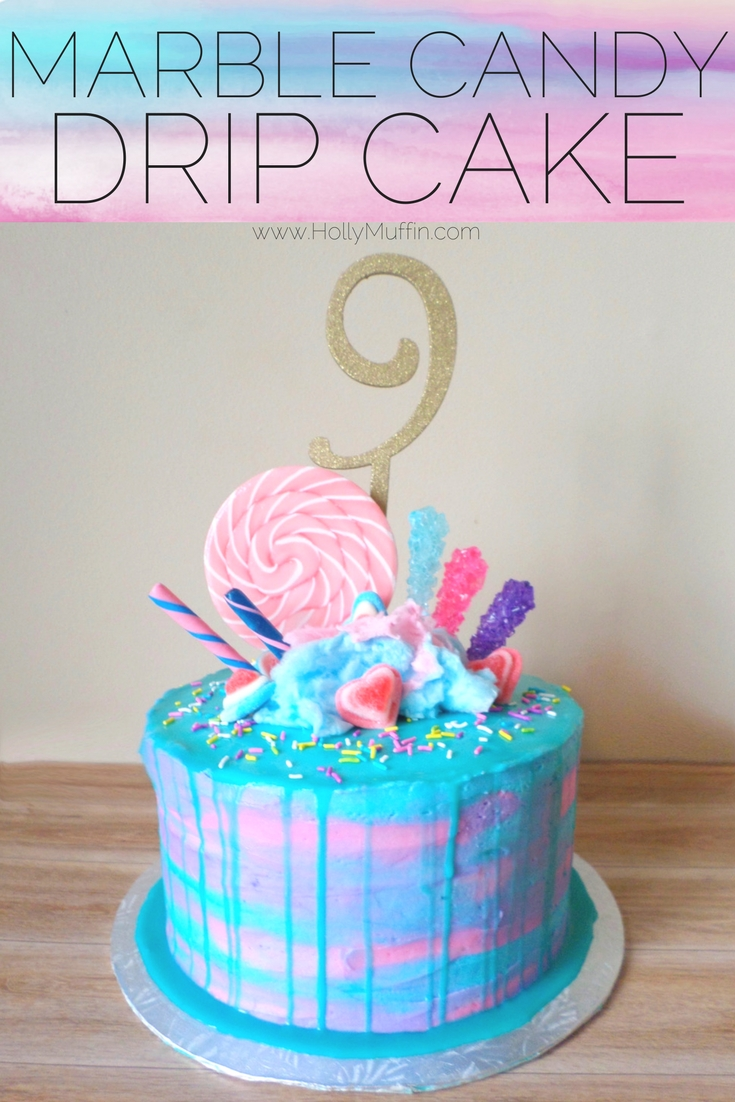 Sensational Marble Candy Drip Cake Holly Muffin Personalised Birthday Cards Akebfashionlily Jamesorg
