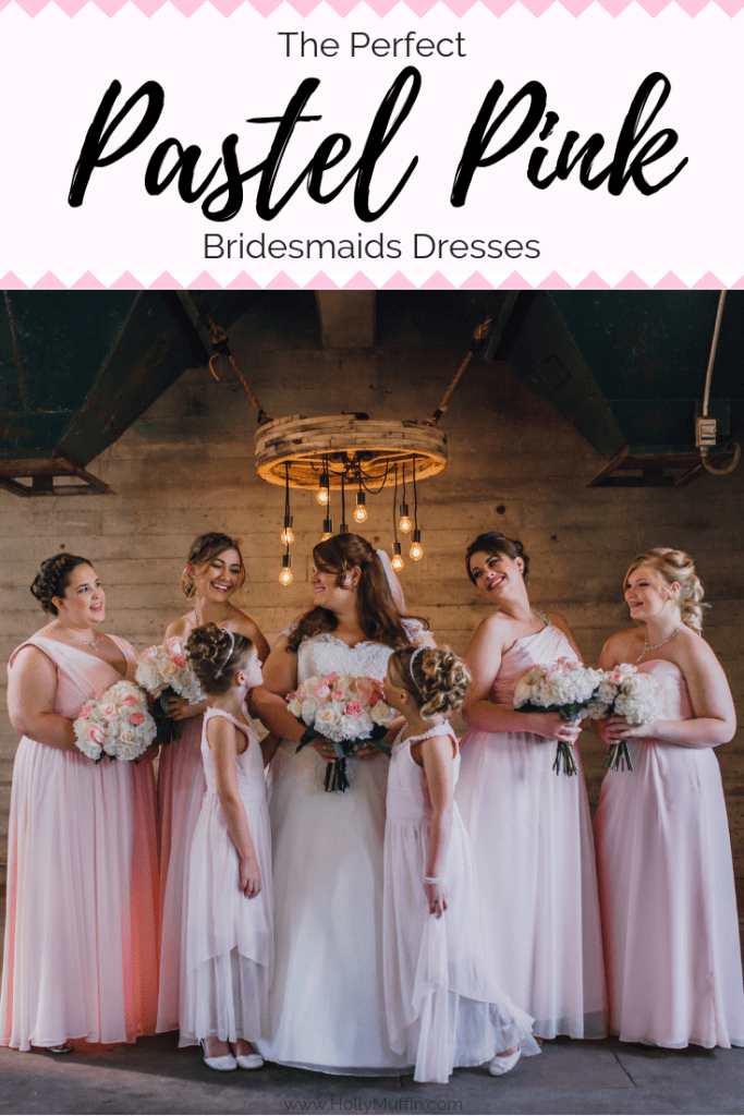 The perfect pink wedding accessories and bridesmaids dresses.