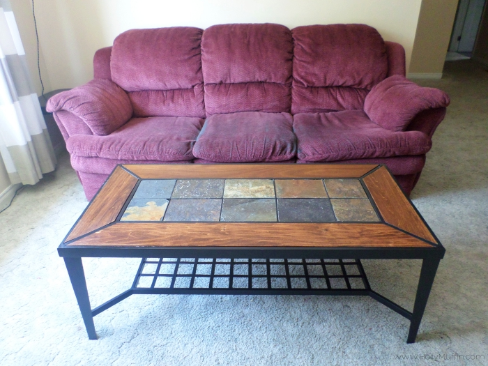 Upcycled metal coffee table