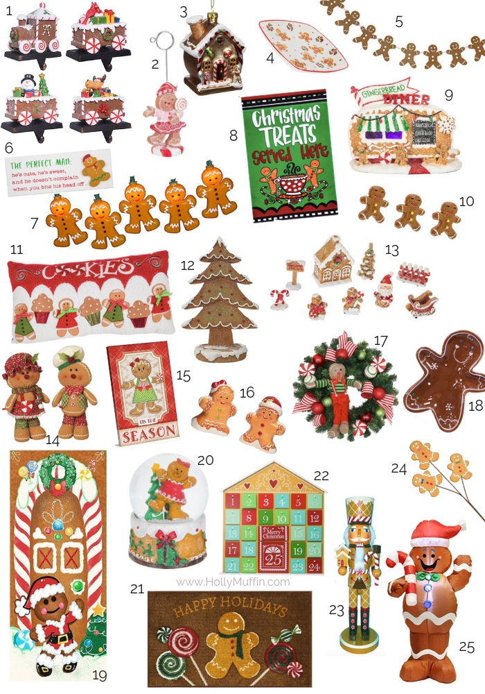 25 Gingerbread Themed Home Decor Items