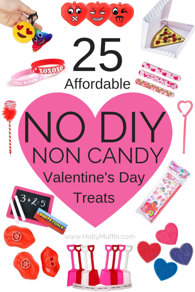 25 Affordable No DIY, Non Candy Valentine's Day Treats. Perfect for the classroom. #ValentinesDay