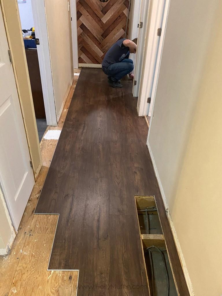 DIY vinyl plank installation