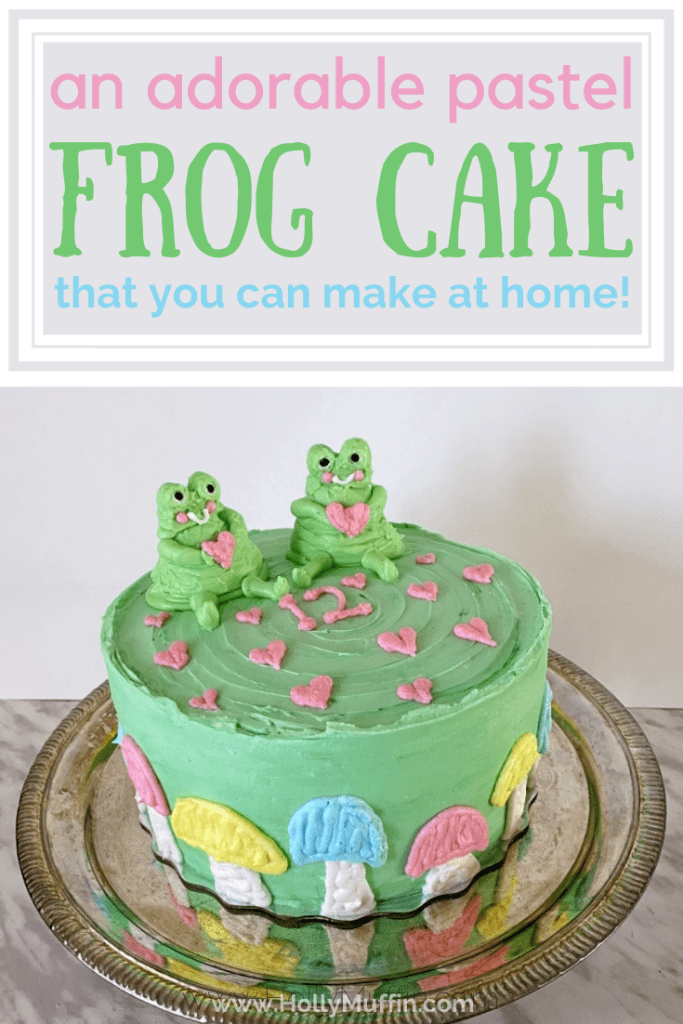 An adorable pastel frog cake that you can make at home!