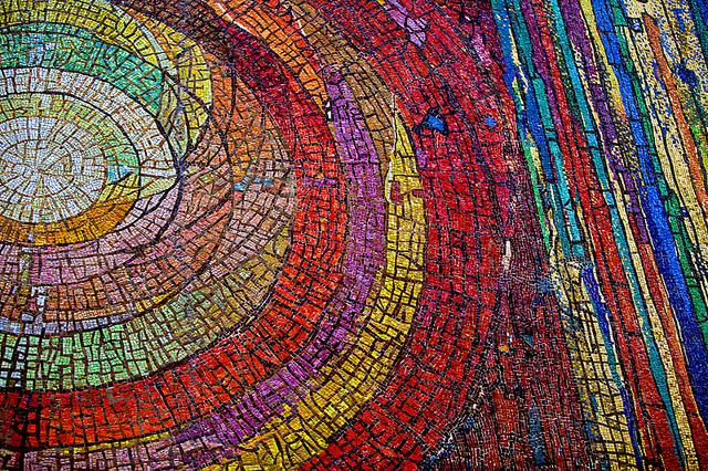 downtown Dallas Church mosaic mural