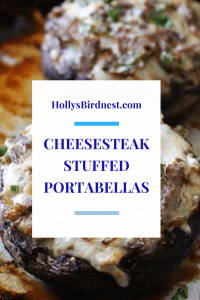 Cogumelos Stuffed Cheesesteak Portabella - Holly's Bird Nest 7