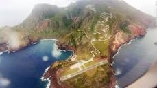 Saba Airport, flanked by cliffs on each end