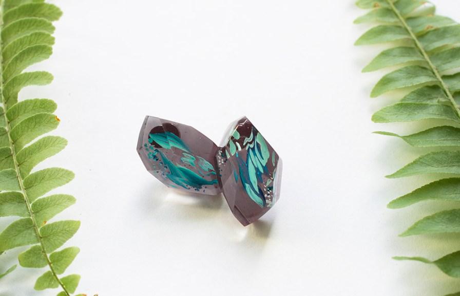 Botanical Gemstone Studs