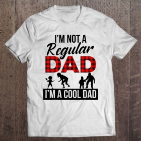 I'm not a regular dad i'm a cool dad red and black checkerboard version shirt