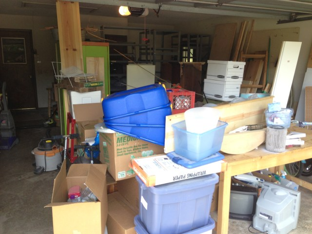 Equipment stored in Garage