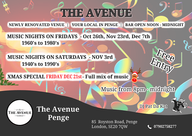 Music Nights The avenue Penge SE20 7QW