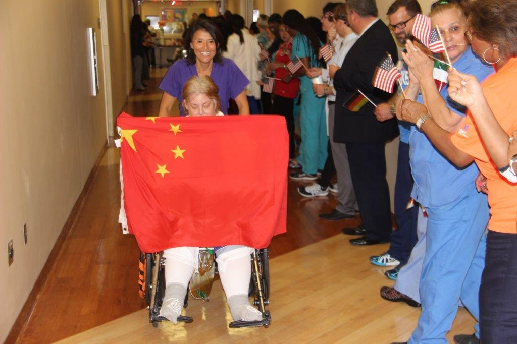 pt3 Hollywood's Memorial Rehabilitation Institute holds Olympics-themed event for patients