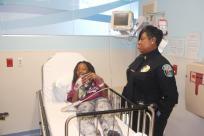 dimaggiospolice Hollywood Police visit Joe DiMaggio Children's Hospital
