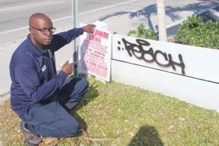 graffiti1 Perry Mason is Hollywood's official 'graffiti buster'