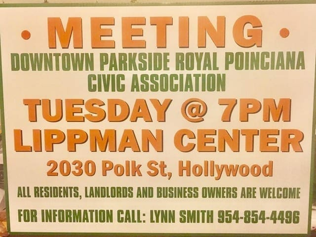 This month's civic association spotlight: downtown/parkside/royal poinciana