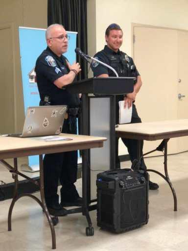 Sgt. Vanegas introducing Officer Hammacher