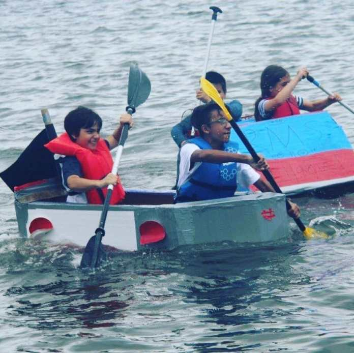 Hollywood cardboard boat races draws record turnout