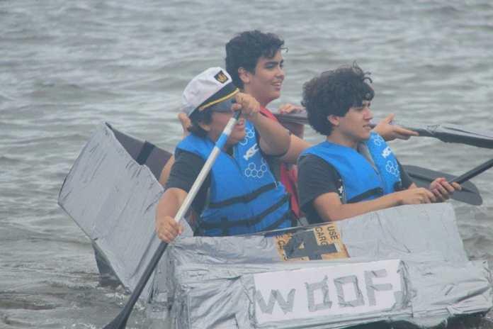 Hollywood cardboard boat race