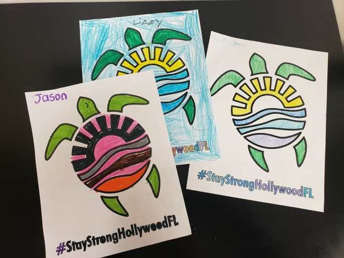 Hollywood offers community campaign featuring the sea turtle logo