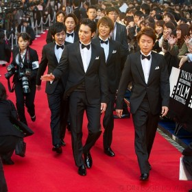 Member of the boy band #ARASHI on the red carpet Opening Night at the 27th TIFF. The members act as special ambassadors for the festival