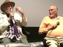 Pictured left to right, Art Bastard, Robert Cenedella and writer/director Victor Kanefsky at the Laemmle Monica Film Center in Santa Monica, Calif., during a Q & A following the pre-Opening Weekend screening of the new Cris Concannon documentary, Art Bastard.